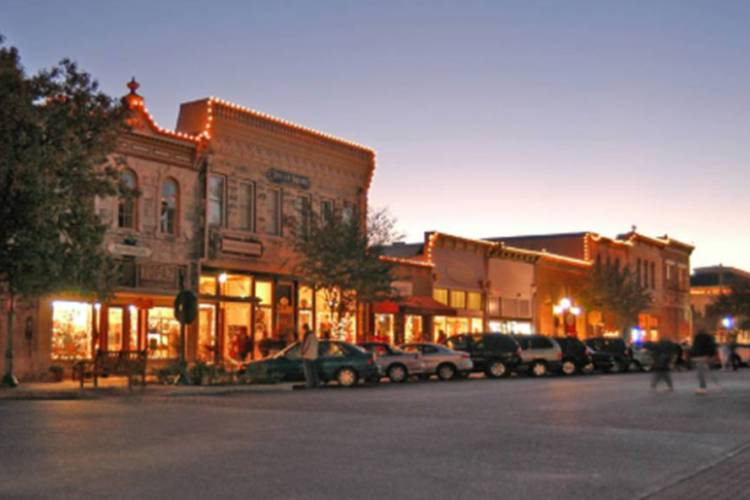 Businesses At Dusk In Everyone's Favorite Small Town